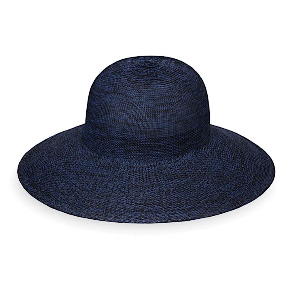 Wallaroo Hat Company Victoria Diva Hat - Mixed Navy