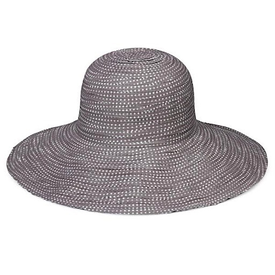 Wallaroo Hat Company Petite Scrunchie Hat - Grey with White Dots
