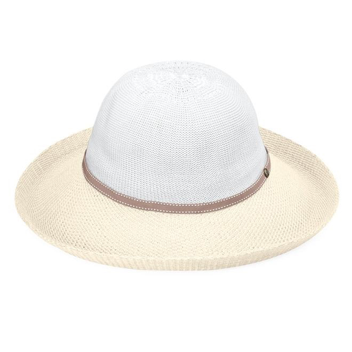 Victoria Hat Two Toned White/Natural