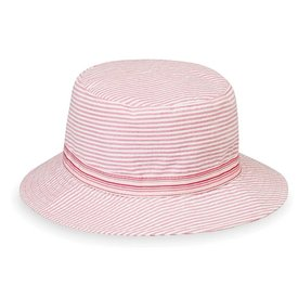 Wallaroo Hat Company Sawyer Hat - Pink Stripes - 4-8 Years