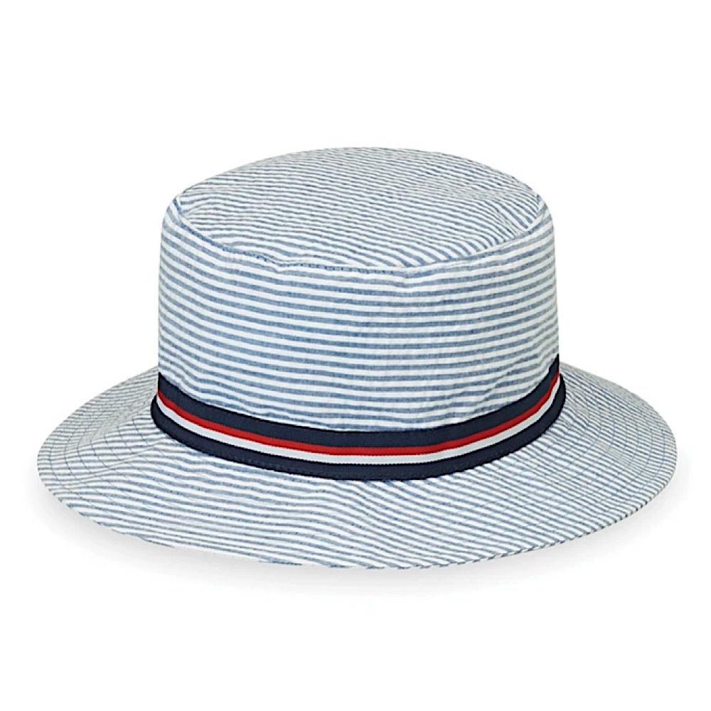 Wallaroo Hat Company Sawyer Hat - Blue Stripes - 4-8 Yrs