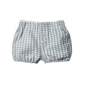 Rylee + Cru Rylee + Cru Button Short - Gingham - Sea