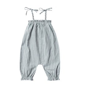 Rylee + Cru Rylee + Cru Bubble Jumpsuit - Gingham - Sea