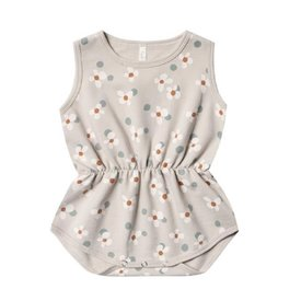 Rylee + Cru Rylee + Cru Playsuit - Dotty Flowers - Dove