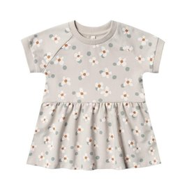 Rylee + Cru Rylee + Cru Raglan Dress - Dotty Flowers - Dove