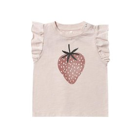 Rylee + Cru Rylee + Cru Ruffled Tank - Strawberry - Lilac