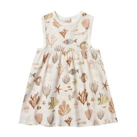 Rylee + Cru Rylee + Cru Layla Dress - Sea Life - Ivory