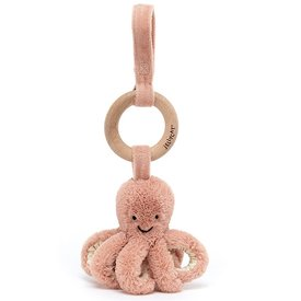 Jellycat Jellycat Wooden Rattle - Odell Octopus - 8 Inches