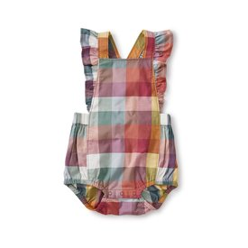 Tea Collection Ruffle Strap Bubble - Suez Plaid