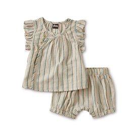 Tea Collection Sparkle Stripe Wrap Set - Marsh