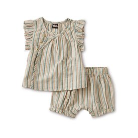 Tea Collection Tea Collection Sparkle Stripe Wrap Set - Marsh