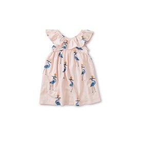 Tea Collection Tea Collection Ruffle Neck Dress - Sparkle Ibis
