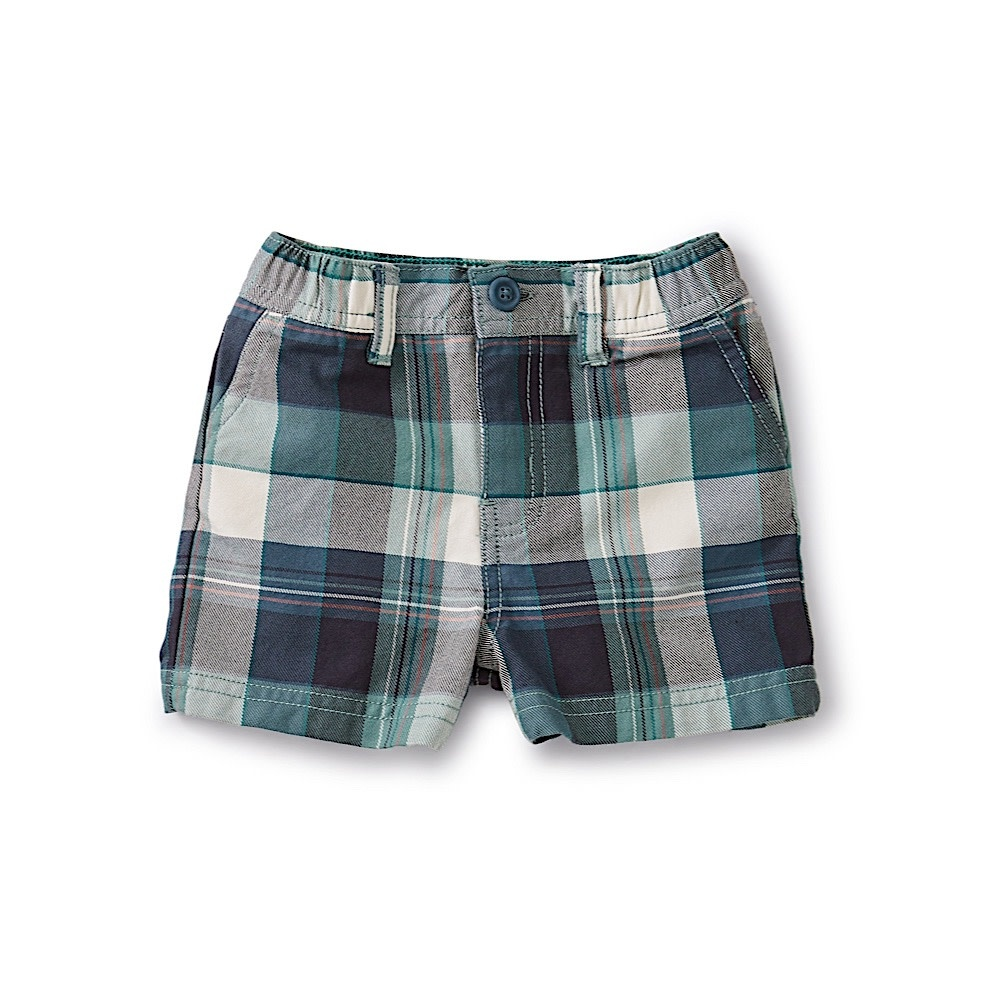 Tea Collection Tea Collection Travel Baby Shorts - Giftun Plaid