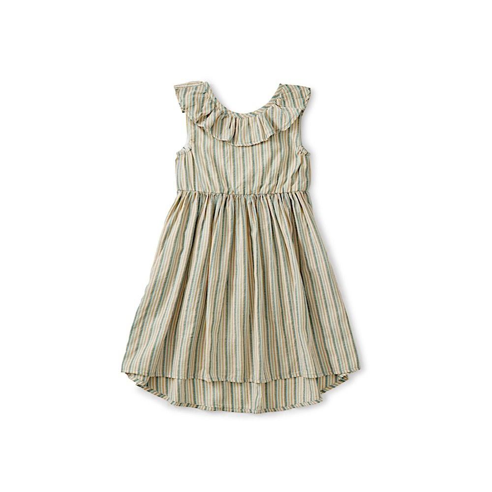Tea Collection Ruffle Hi-Lo Dress - Marsh