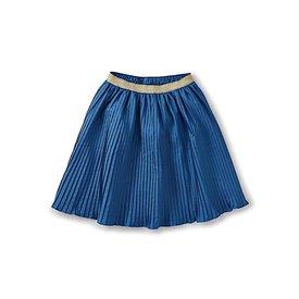 Tea Collection Tea Collection Metallic Waist Pleated Skirt - Batik Blue