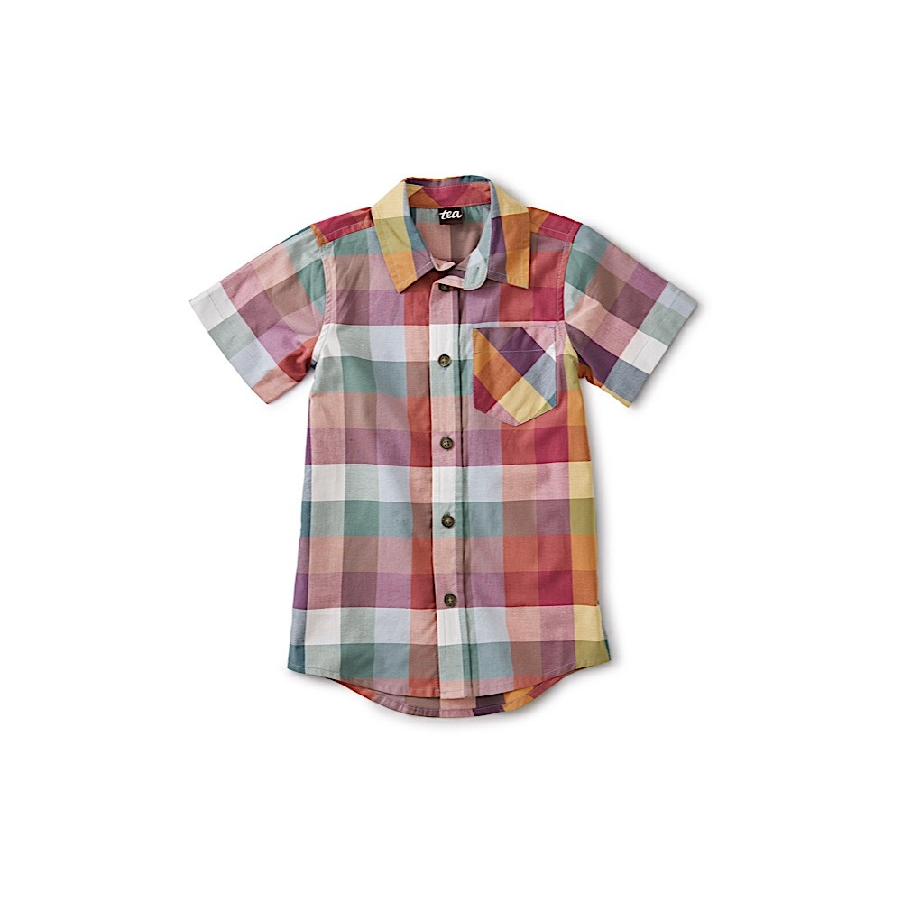 Tea Collection - Madras Woven Shirt - Suez Plaid