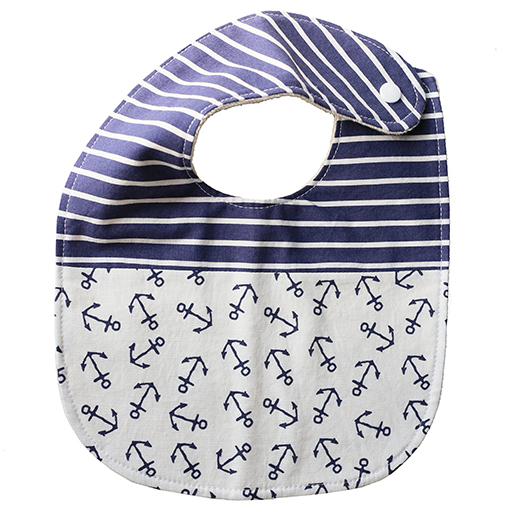 Two Little Beans Baby Bib Nautical Onesize