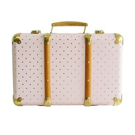 Alimrose Alimrose Mini Vintage Brief Case - Pink Gold Spot