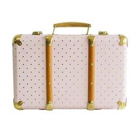 Alimrose Alimrose Vintage Style Carry Case - Pink Gold Spot