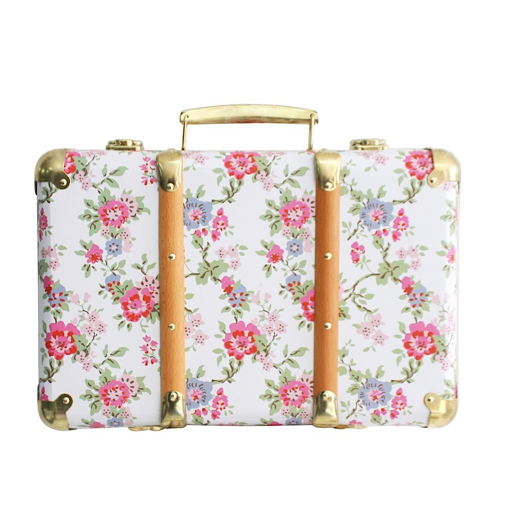 Alimrose Alimrose Mini Vintage Brief Case - Cottage Rose