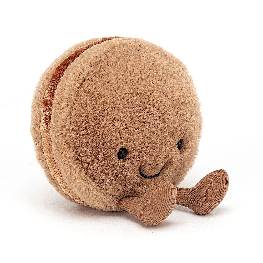 Jellycat Amuseable Macaron Chocolate - 4 Inches