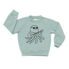 Kira Kira - Ukulele Graphic Raglan Sweatshirt - Celadon