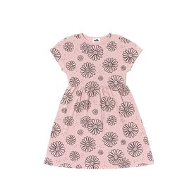 Kira Kira - Daisies Print Baby Doll Dress - Blush