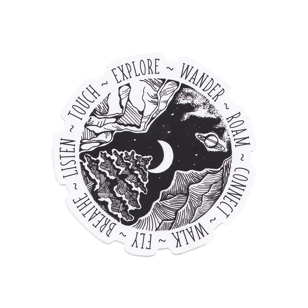 Wild Slice Design - Wander Sticker