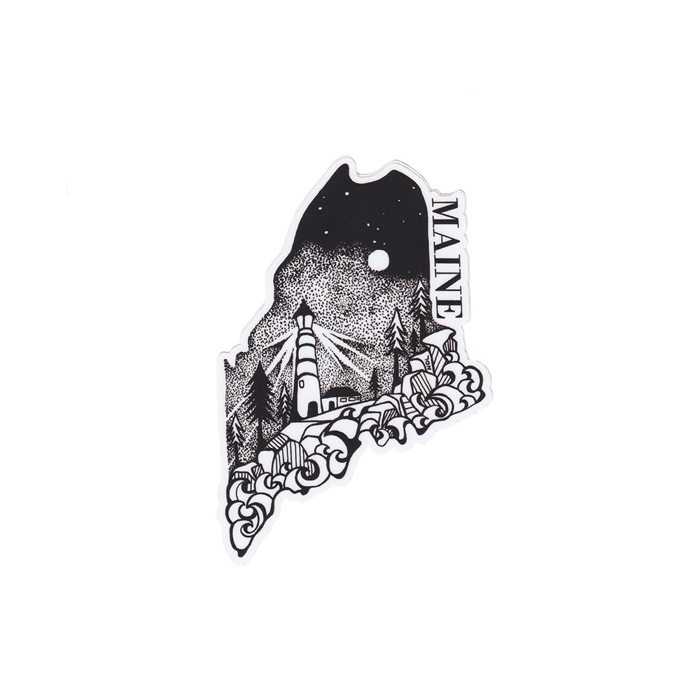 Wild Slice Design Wild Slice Design - Maine Sticker