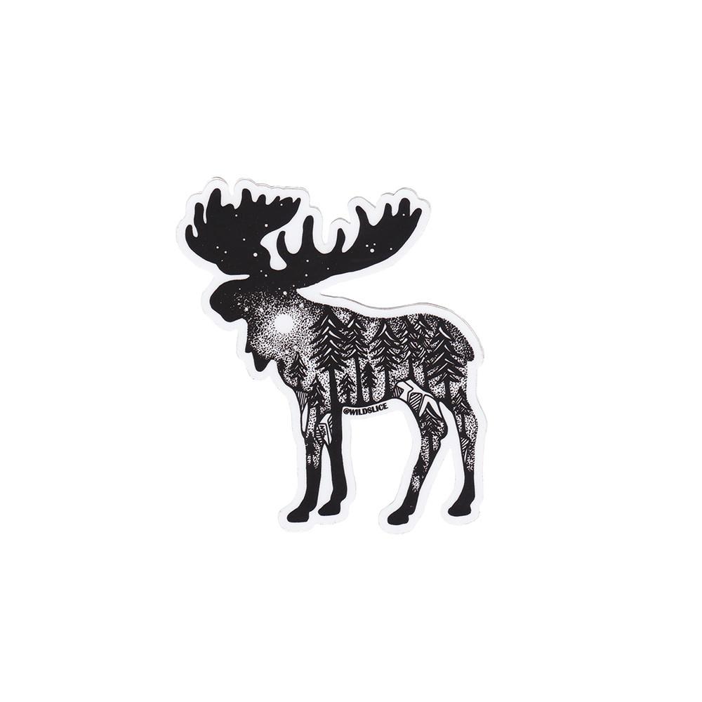 Wild Slice Design - Moose Sticker
