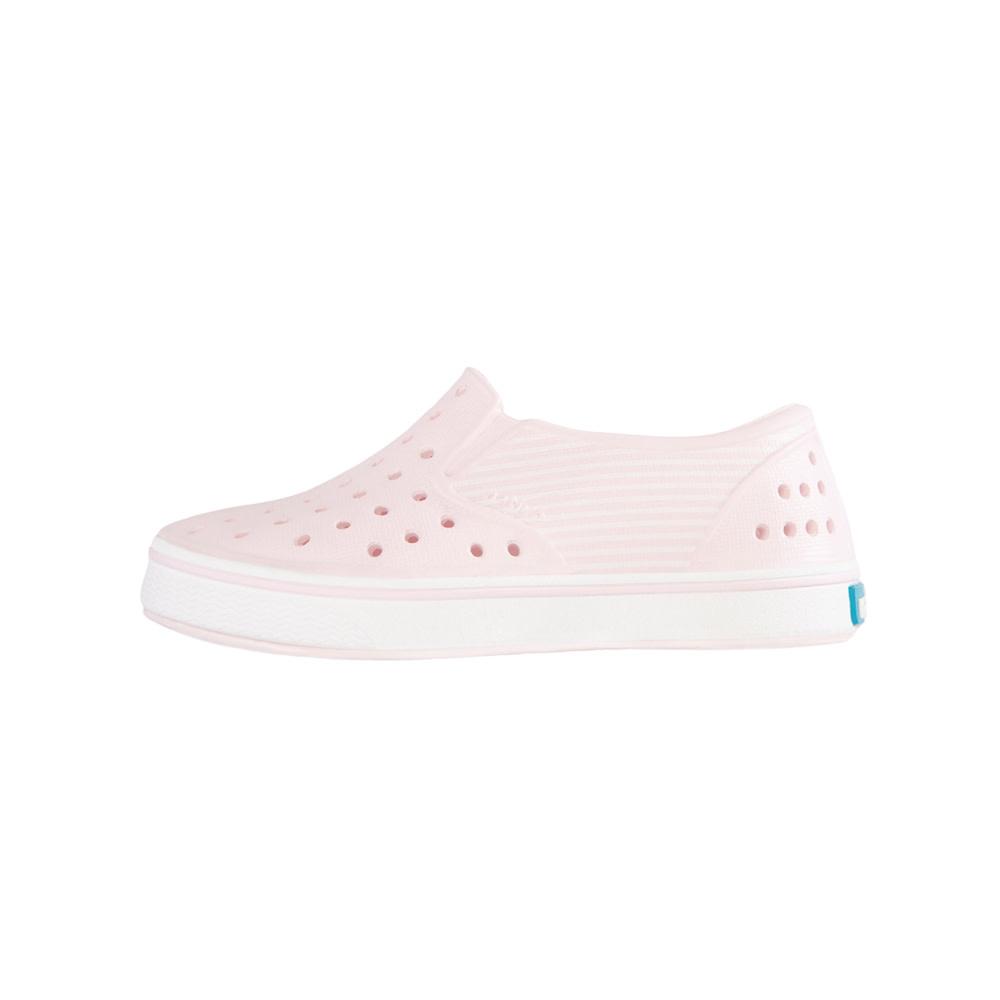 Native Shoes Miles Child Print - Milk Pink/Shell White/Striped Block