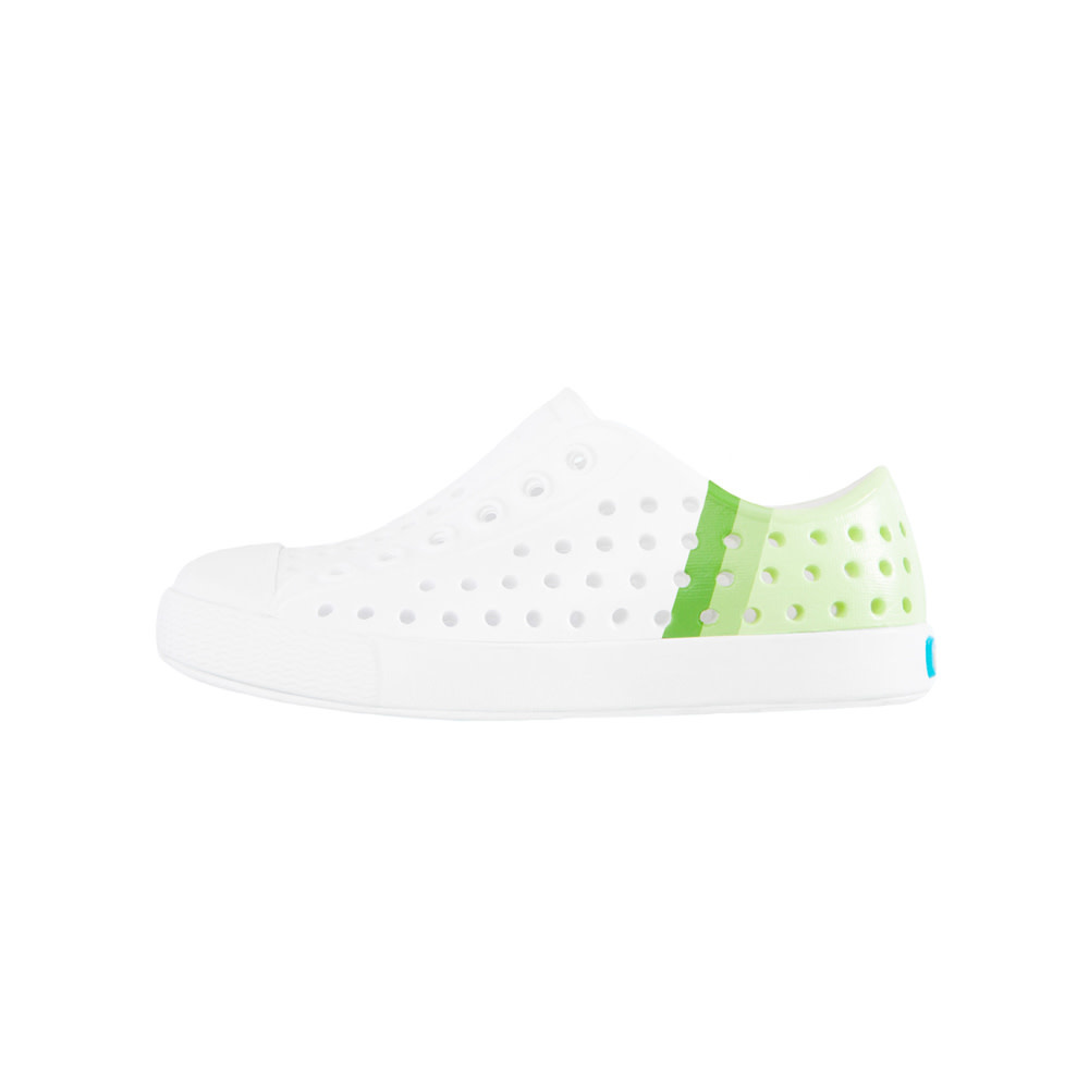 Native Shoes Native Shoes Jefferson Child Block - Shell White/Shell White/Cucumber Gradient