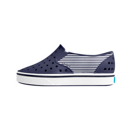 Native Shoes Native Shoes Miles Child Print - Regatta Blue/Shell White/Striped Block