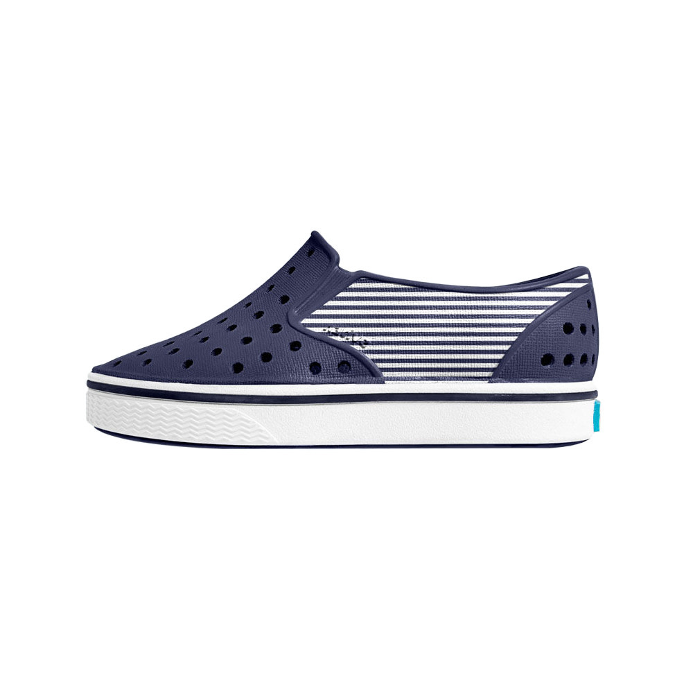 Native Shoes Miles Child Print - Regatta Blue/Shell White/Striped Block