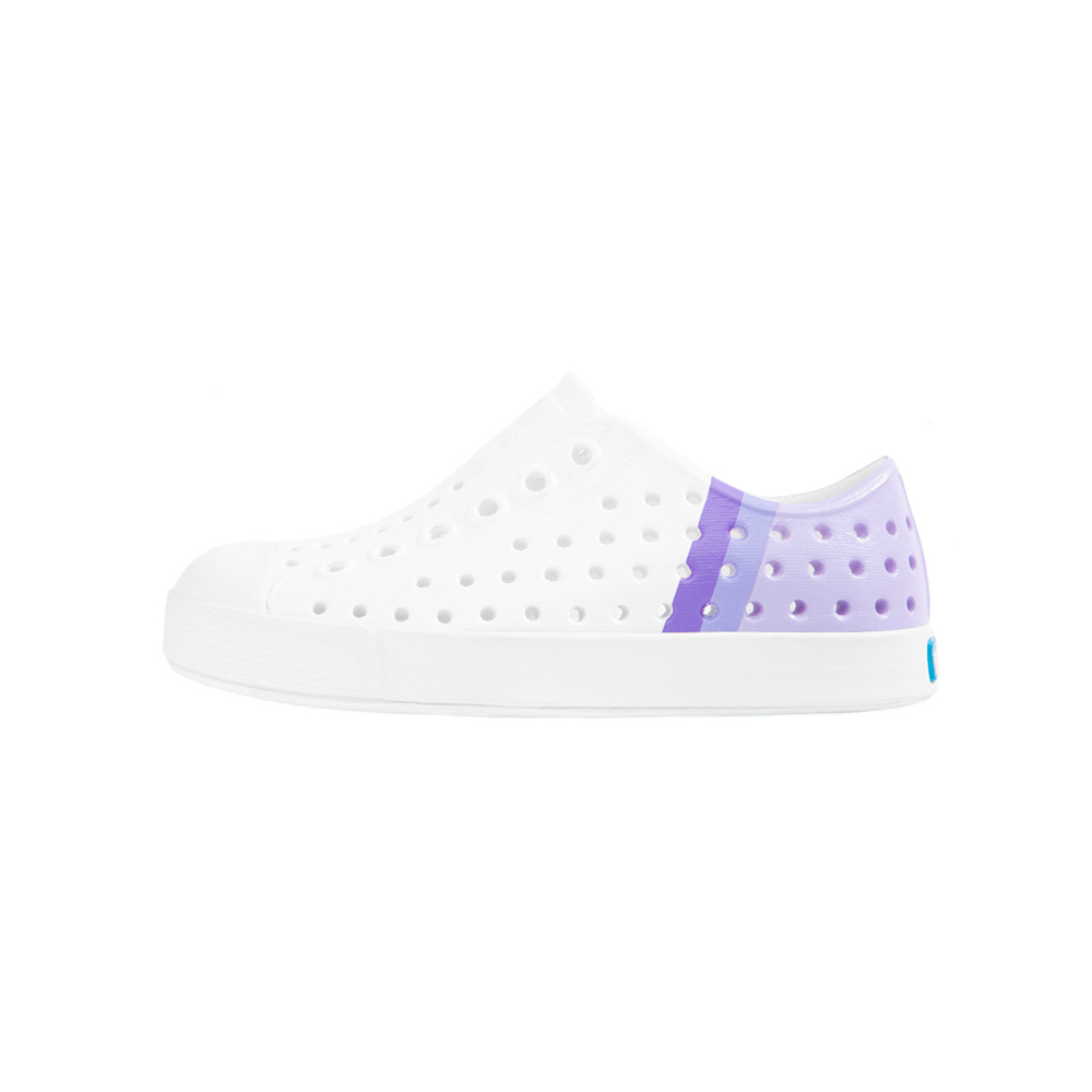 Native Shoes Native Shoes Jefferson Child Block - Shell White/Shell White/Powder Gradient