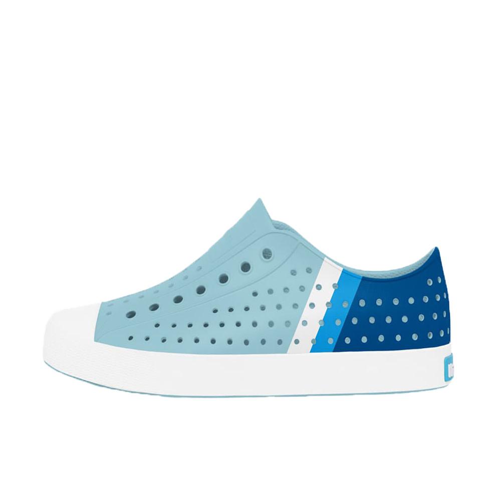 Native Shoes Jefferson Adult - Sky Blue/Shell White/Gradient Block