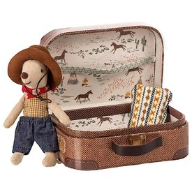 Maileg Maileg Mouse - Little Brother Cowboy Mouse in Suitcase