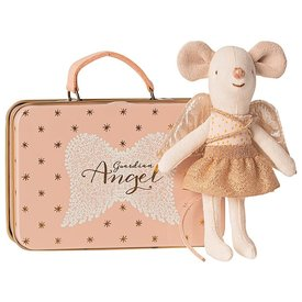 Maileg Maileg Mouse - Little Sister Guardian Angel in Suitcase