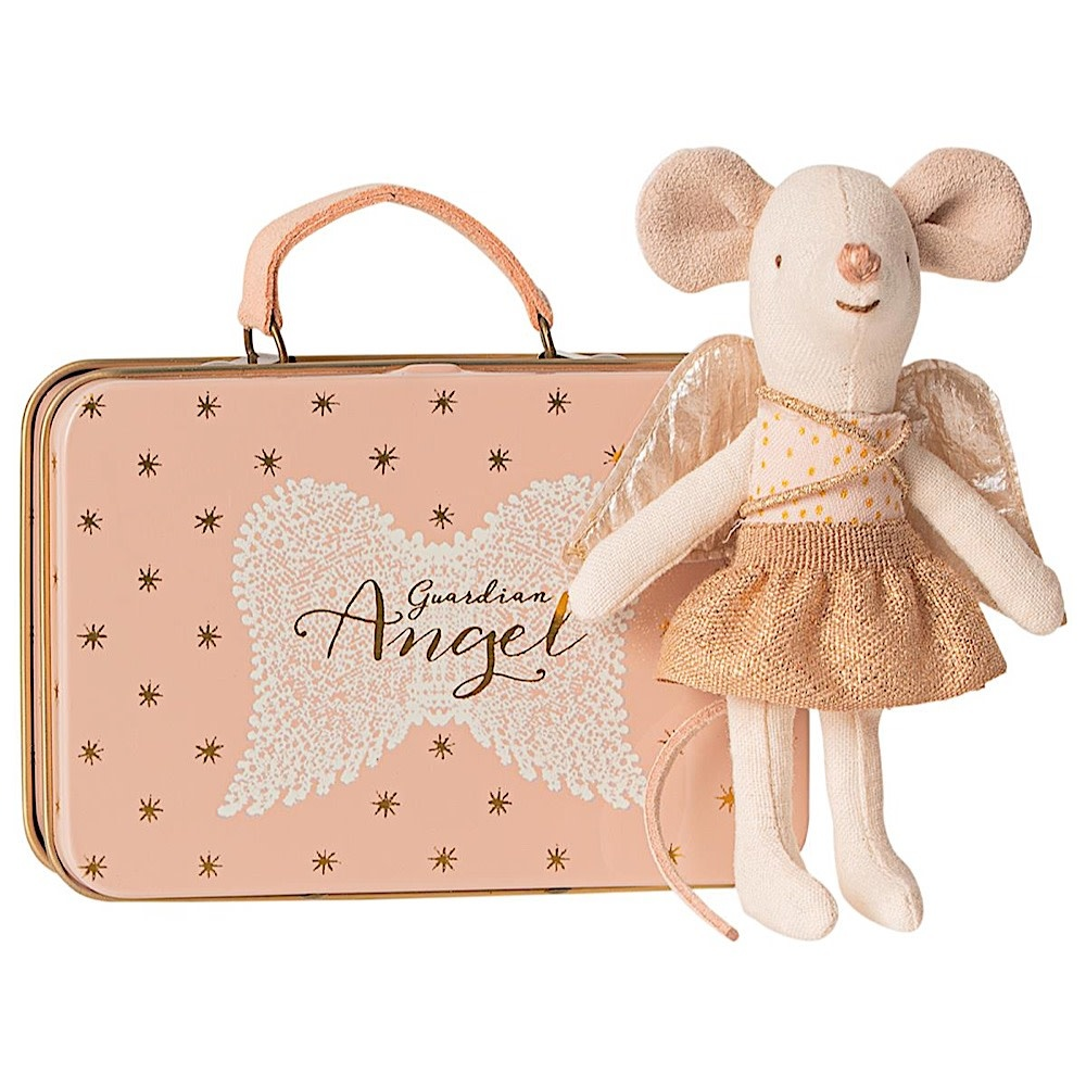 Maileg Mouse - Little Sister Guardian Angel in Suitcase