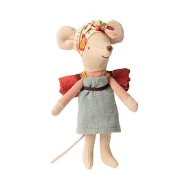 Maileg Maileg Mouse - Hiker Big Sister - Orange Flower Headband
