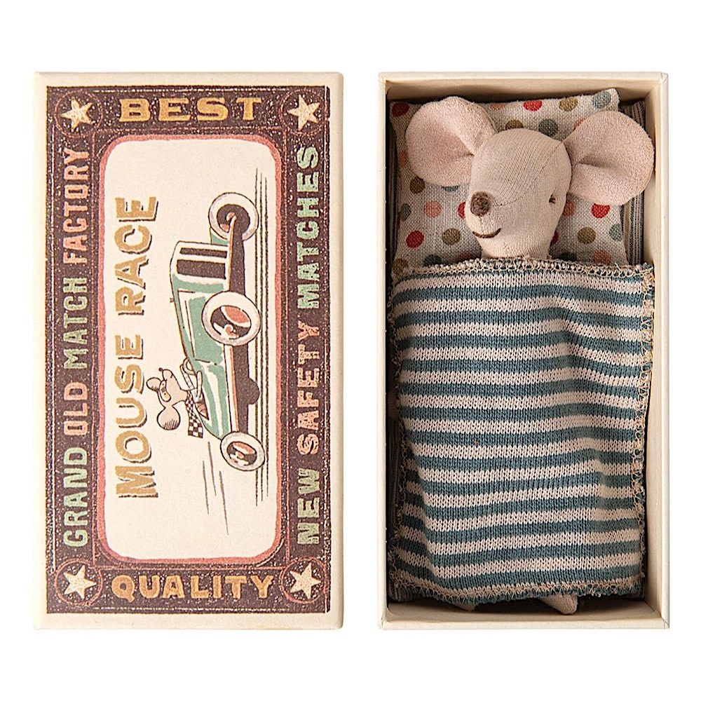 Maileg Mouse - Big Brother in Matchbox