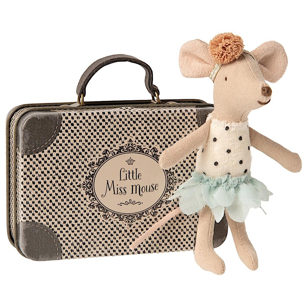 Maileg Mouse - Little Sister Little Miss Mouse in Suitcase