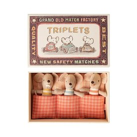 Maileg Maileg Mouse - Baby Triplets in Matchbox