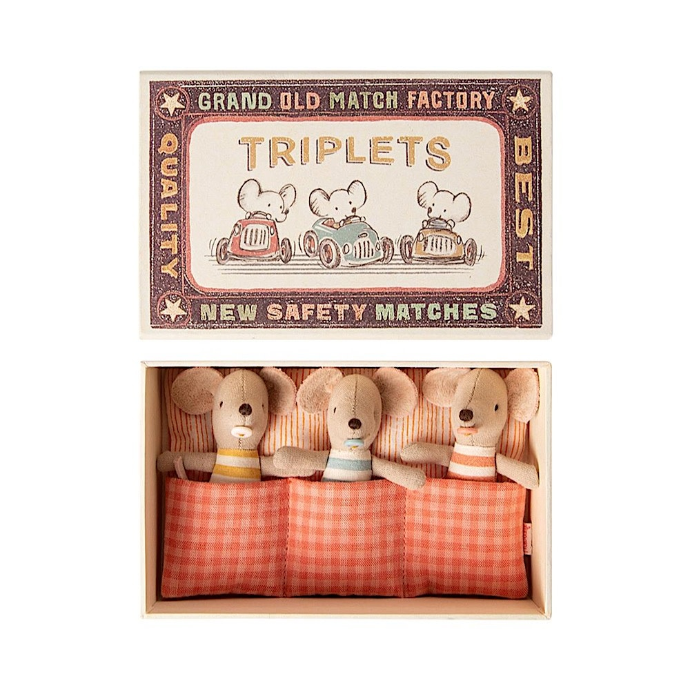 Maileg Mouse - Baby Triplets in Matchbox