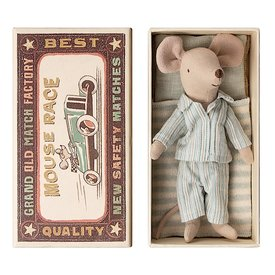 Maileg Maileg Mouse - Big Brother in Box - Pajamas