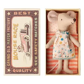 Maileg Maileg  Mouse - Big Sister In Box - Flower Dress