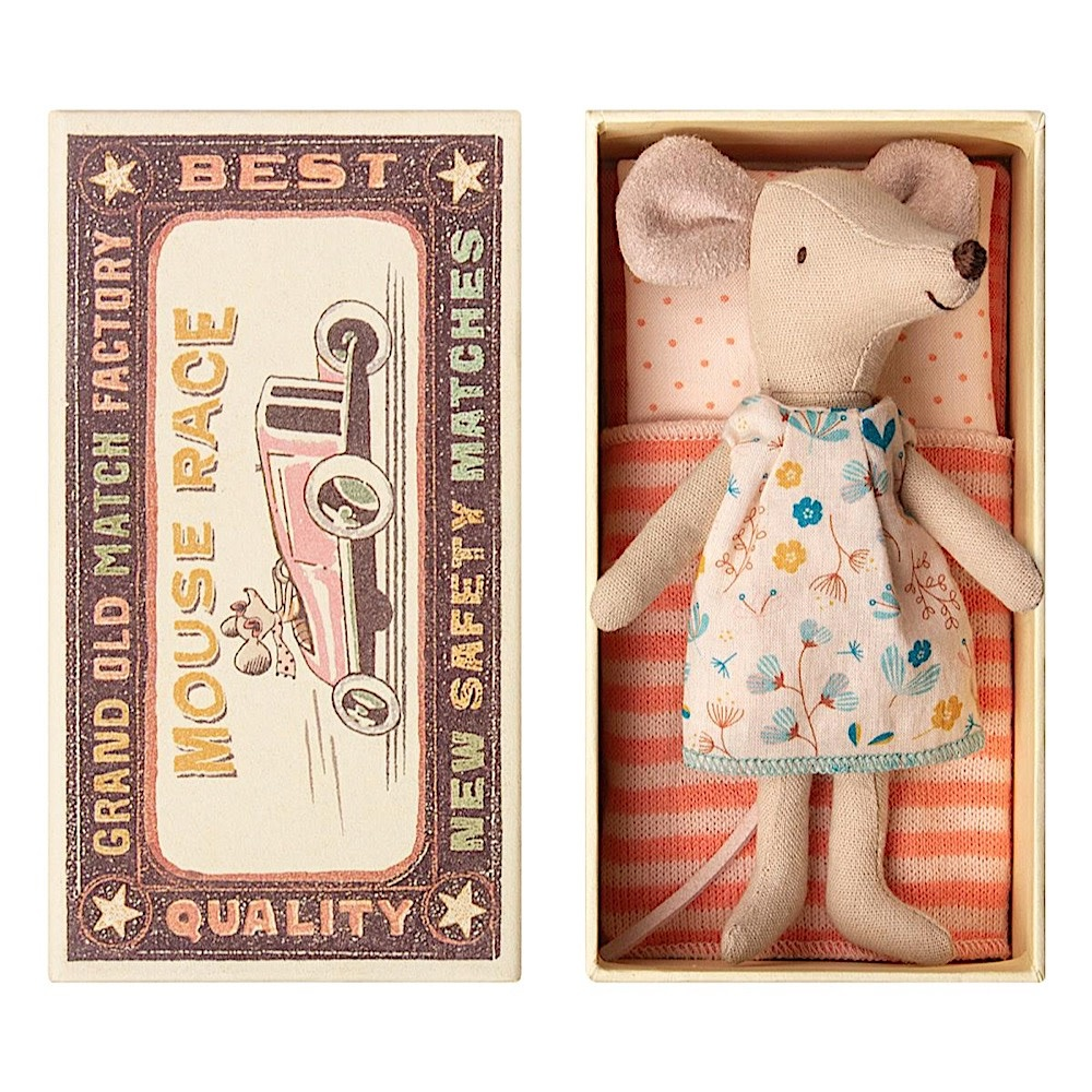Maileg  Mouse - Big Sister In Box - Flower Dress