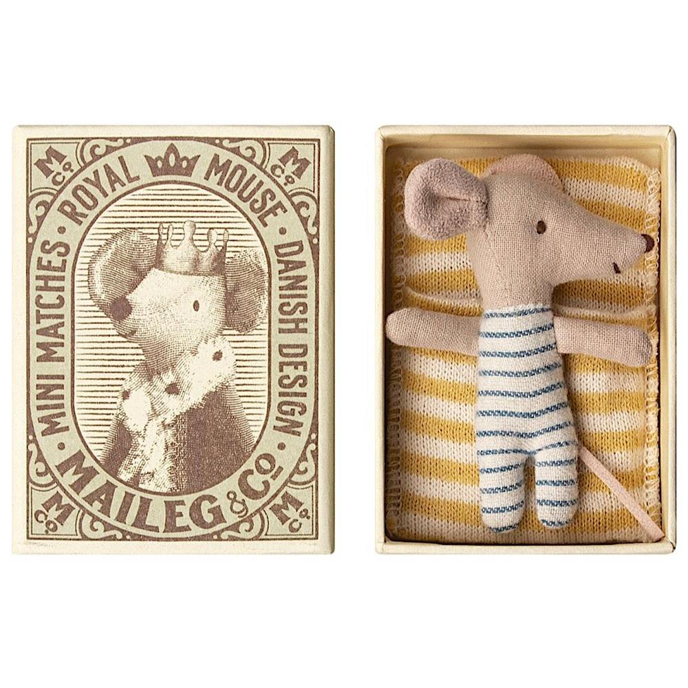 Maileg Mouse - Baby Boy In Box - Sleepy-Wakey
