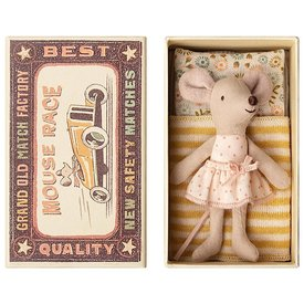 Maileg Maileg Mouse - Little Sister In Box - Pink Polka Dot