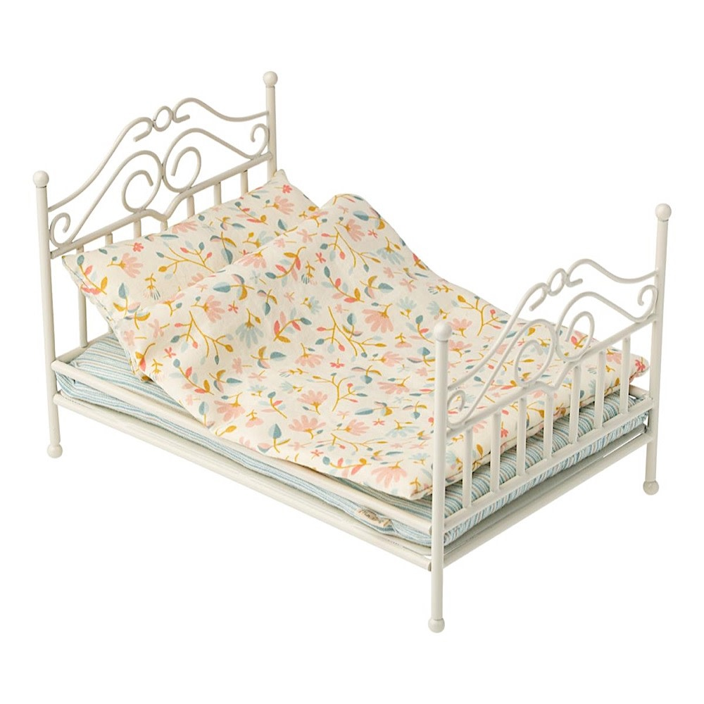 Maileg Vintage Bed - Micro - Soft Sand